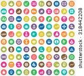 money 100 icons universal set... | Shutterstock . vector #318442208