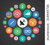 war icons universal set for web ... | Shutterstock . vector #318445730