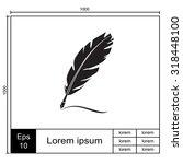 feather vector icon. | Shutterstock .eps vector #318448100