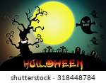 halloween design background... | Shutterstock . vector #318448784