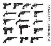 set of gun icons | Shutterstock .eps vector #318449690