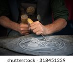 Craftsman Hands Working With A...