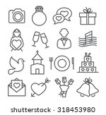 wedding line icons | Shutterstock . vector #318453980
