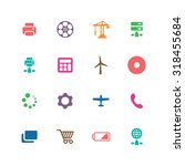 technology icons universal set... | Shutterstock . vector #318455684