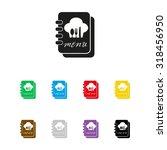 menu book   vector icon | Shutterstock .eps vector #318456950