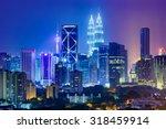 kuala lumpur  malaysia city... | Shutterstock . vector #318459914