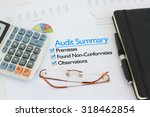 business audit summary report | Shutterstock . vector #318462854
