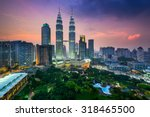 kuala lumpur  malaysia city... | Shutterstock . vector #318465500