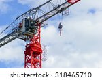 Red Construction Tower Crane...