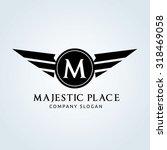 majestic place  m letter logo... | Shutterstock .eps vector #318469058