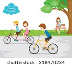 family relaxing in public park  ... | Shutterstock .eps vector #318470234