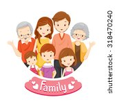 happy family portrait ... | Shutterstock .eps vector #318470240