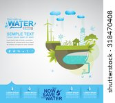 save water concept | Shutterstock .eps vector #318470408
