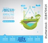 save water concept | Shutterstock .eps vector #318470414
