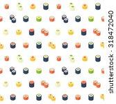 flat isometric sushi seamless... | Shutterstock .eps vector #318472040