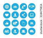 social media icons universal... | Shutterstock . vector #318475814