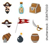 pirates icons set | Shutterstock .eps vector #318476510