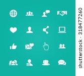social media icons universal... | Shutterstock . vector #318477260