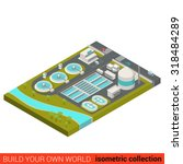 flat 3d isometric wastewater... | Shutterstock .eps vector #318484289