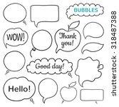 doodle vector speech bubbles... | Shutterstock .eps vector #318487388