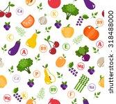 bright vegetable set in flat... | Shutterstock . vector #318488000