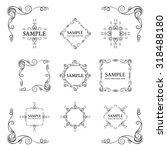 frames. decorative elements.... | Shutterstock .eps vector #318488180