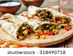 pepper corn black bean quinoa... | Shutterstock . vector #318490718