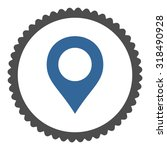 map marker round stamp icon....