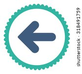 arrow left round stamp icon.... | Shutterstock .eps vector #318491759