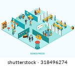 office interior. reception ... | Shutterstock .eps vector #318496274