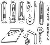 vector set of cutter | Shutterstock .eps vector #318501674