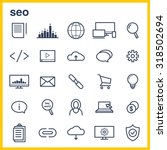 line icons set. icons for seo ...