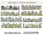 sketch big city architecture... | Shutterstock .eps vector #318504998
