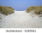 pathway in dune with sea on... | Shutterstock . vector #3185061