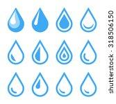 Water Drop Emblem. Logo...