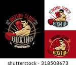 boxing club logo set. boxing...   Shutterstock .eps vector #318508673