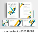 corporate identity design set... | Shutterstock .eps vector #318510884