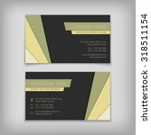 set of vector business cards... | Shutterstock .eps vector #318511154
