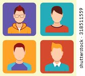 boys icons set. team concept.... | Shutterstock .eps vector #318511559