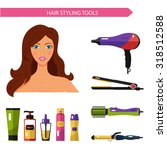Flat Vector Cosmetics Icons Se...