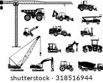 set of heavy construction... | Shutterstock .eps vector #318516944