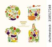 vegetables. organic food.... | Shutterstock .eps vector #318517268