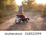 Toddler Driving Toy Car Outdoors