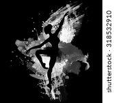 ballerina in dance. watercolor... | Shutterstock .eps vector #318532910