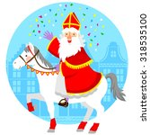 cartoon sinterklaas  st.... | Shutterstock .eps vector #318535100