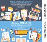 project management  human... | Shutterstock .eps vector #318535598