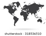 world map gray | Shutterstock . vector #318536510