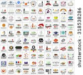 restaurant flat icons set ...