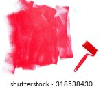 a close up shot of painting... | Shutterstock . vector #318538430