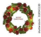 christmas wreath | Shutterstock .eps vector #318541130